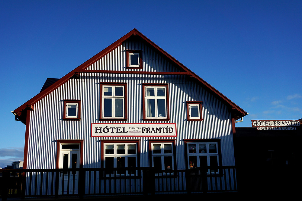 Hotel Framtid by the port.