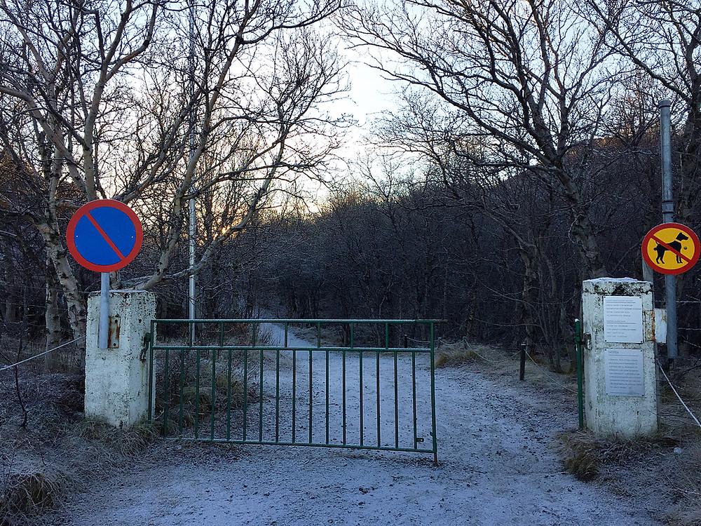 The entrance to the secret garden.