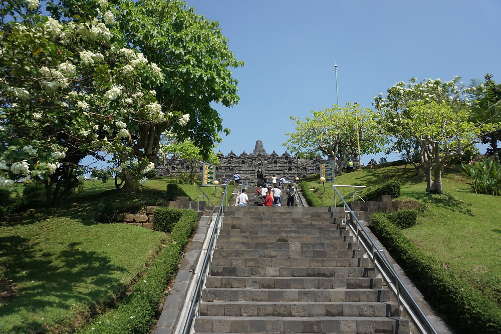 Borobudur is standing high right after these stairs