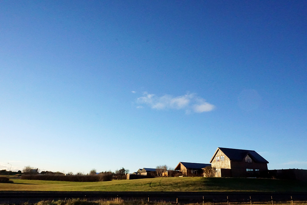 Love the sky and the houses, just opposite of Milk Factory.