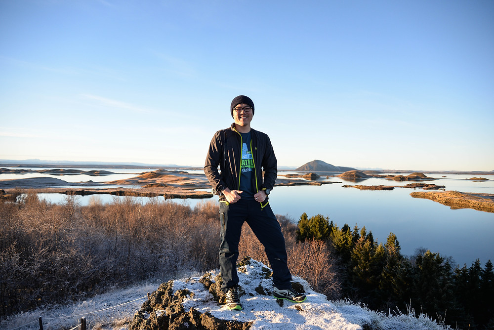Me via Myvatn Lake view. - Photo credited to Hybrid.