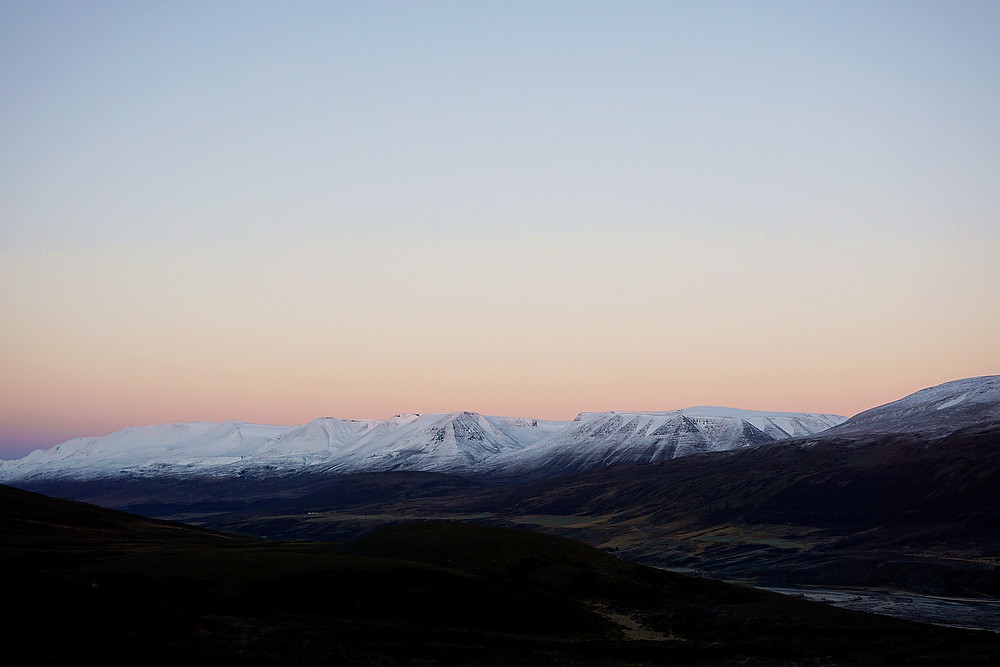 Unreal color of the dawn.