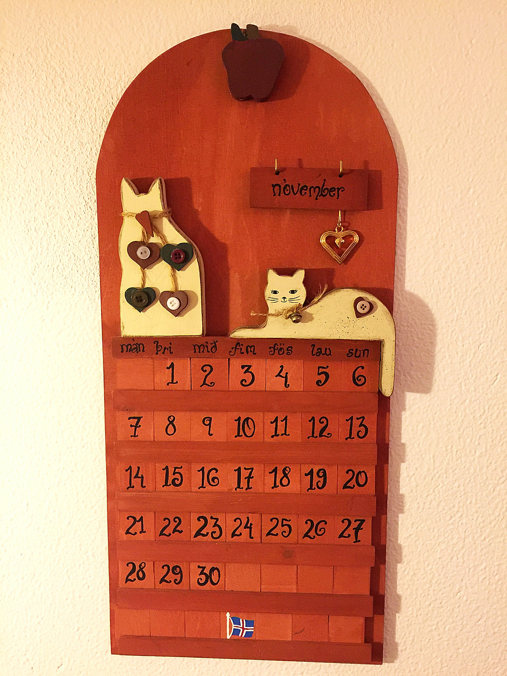 Very unique wall calendar.