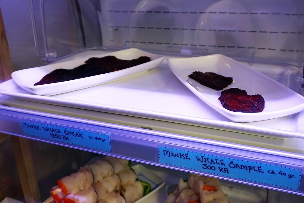 Whale steak.