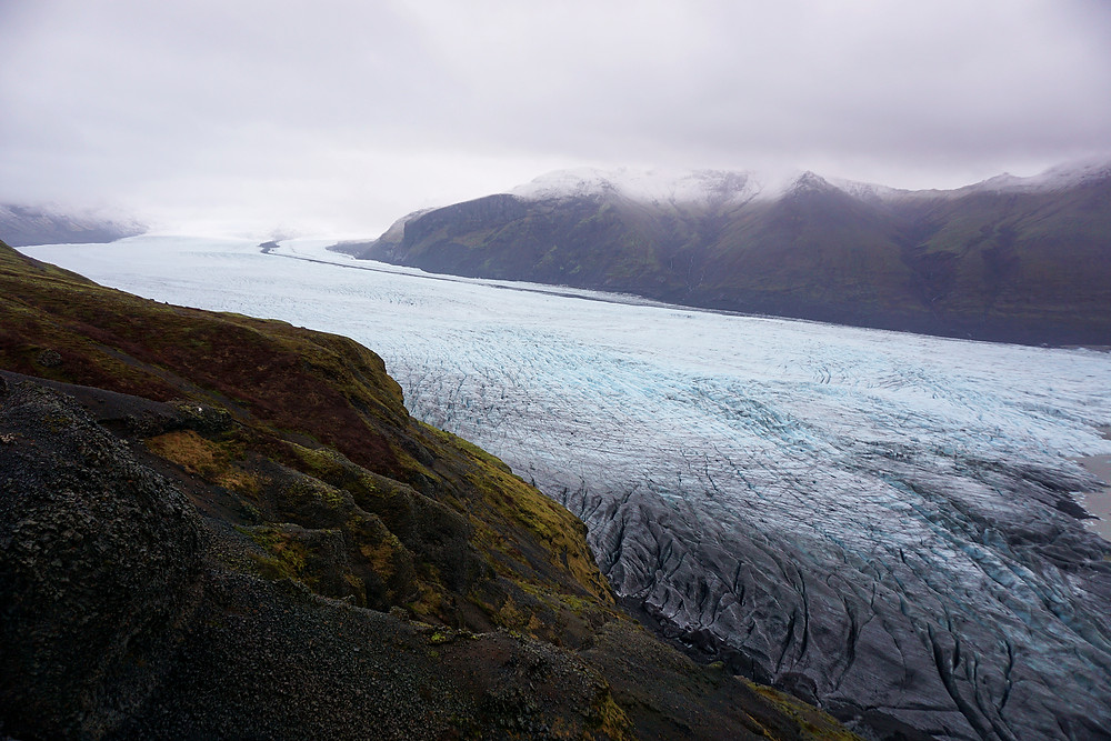 Vatnajökull glacier with the size of three Luxembourg are out there.