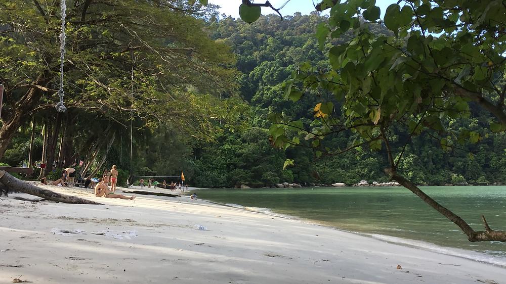 满多游客进来休闲的,但他们看到这海水不会失望吗?