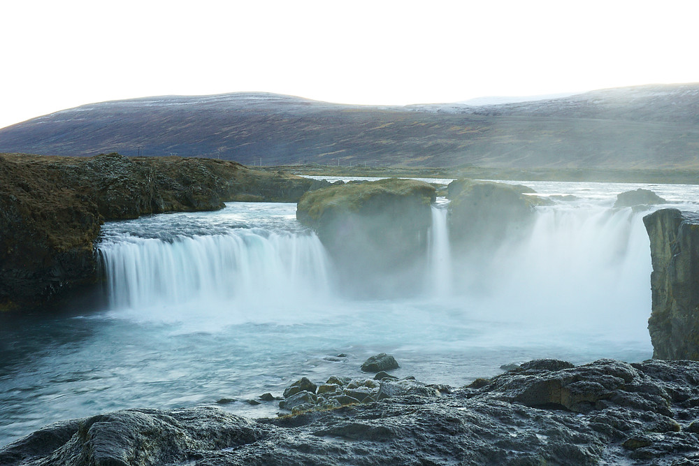 Not having a good photo of Goðafoss due to the rush.