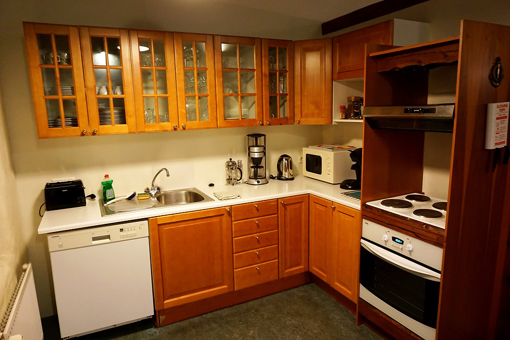 Complete kitchen area.