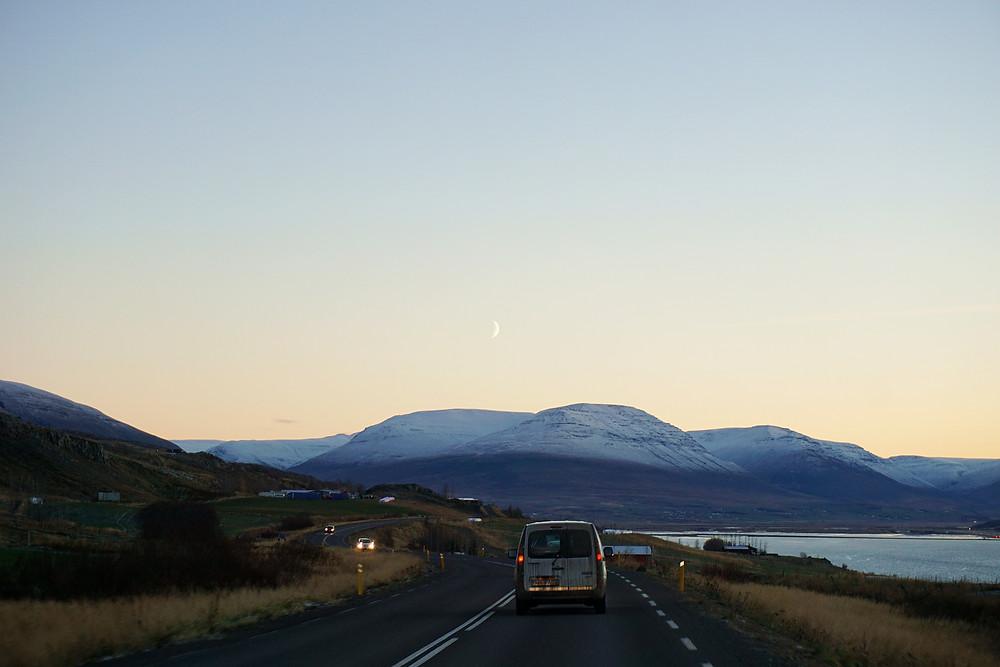 West coast of Eyjafjörður fjord.