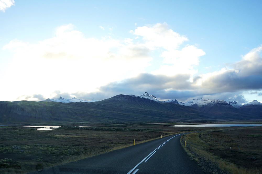 Team decision, to follow the mountainous path of ring road to Egilsstaðir.