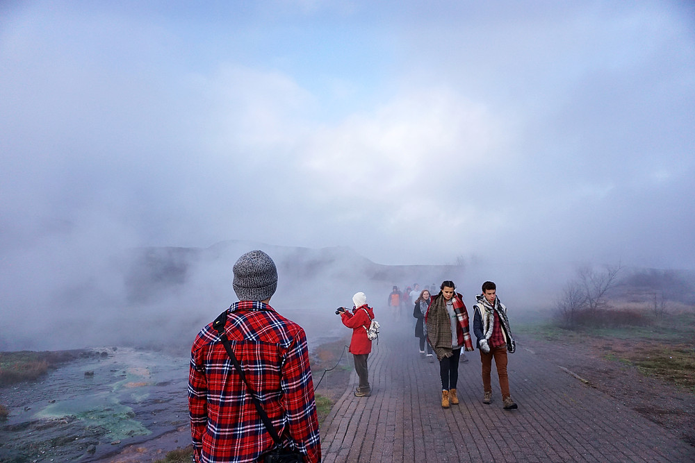 Sulfur smell is not that terrible that what I experience at Ijen.