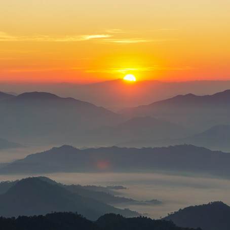 A Glorious Sunrise at Phu Chi Fa
