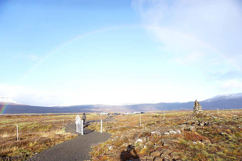 Pass the small gate to Thingvellir National Park, and turn again for 3rd shot.
