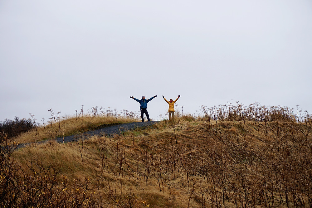 Hybrid and Sue Hui dancing on top of the hill.