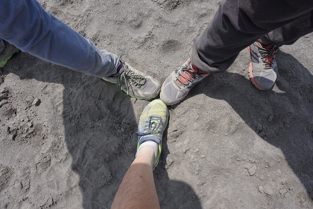 Only 5 minutes into sea of sands, and this how our shoes had become...