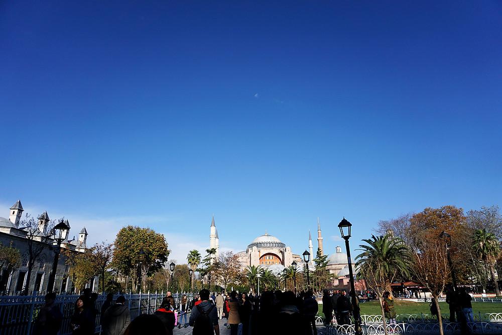Hagia Sophia from Sultanahmet square.