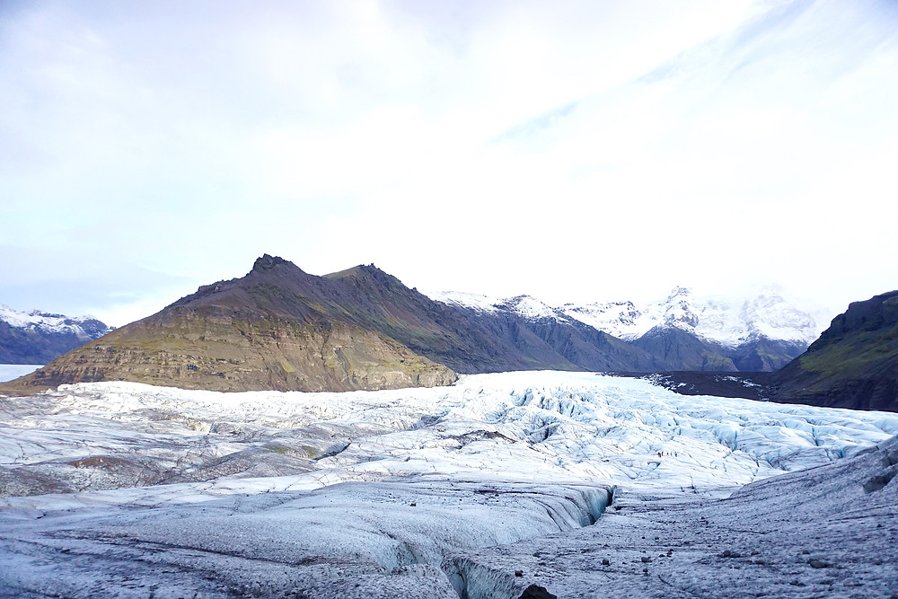 Another view towards the Svínafellsjökull glaciers.
