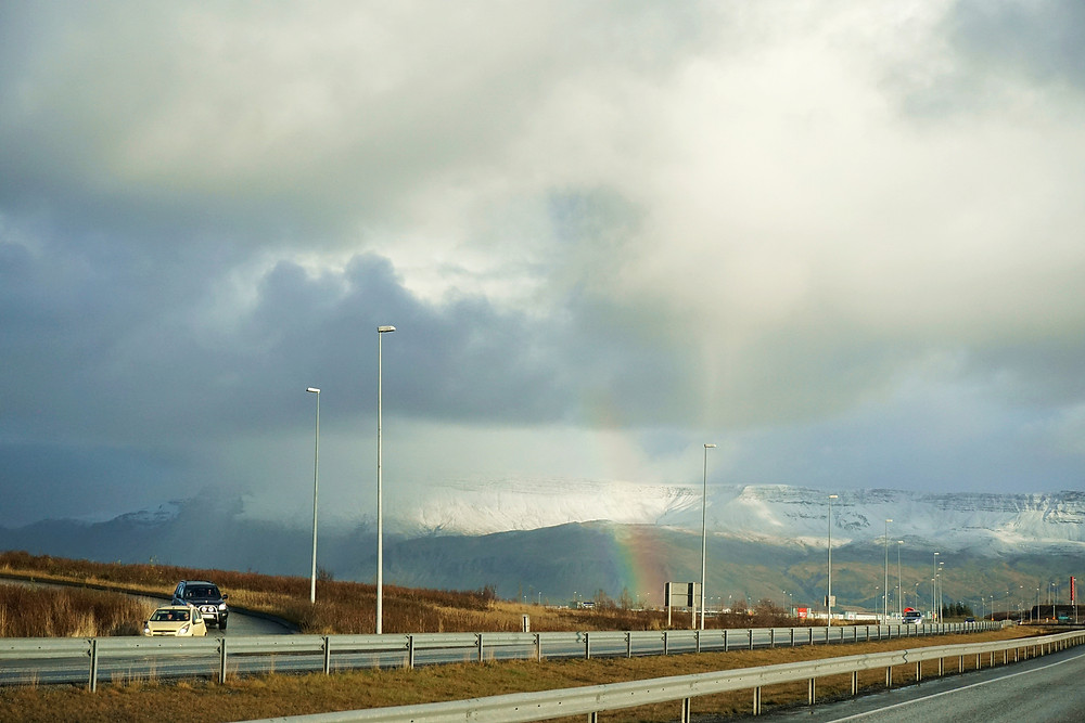 If not mistaken, it is first rainbow that we seeing here in Iceland, countless later~