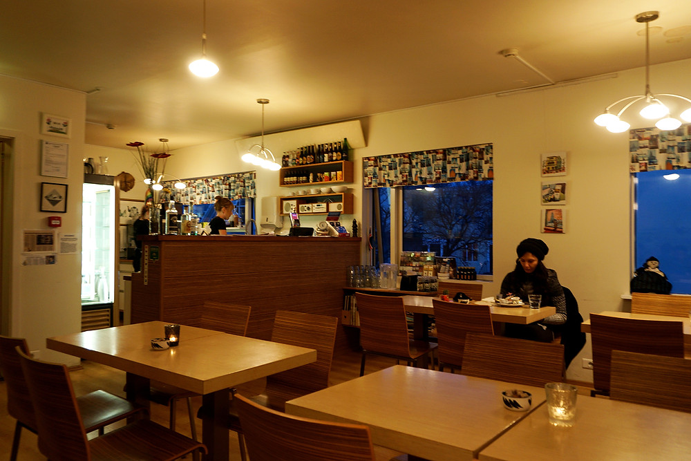 Interior of the cafe.