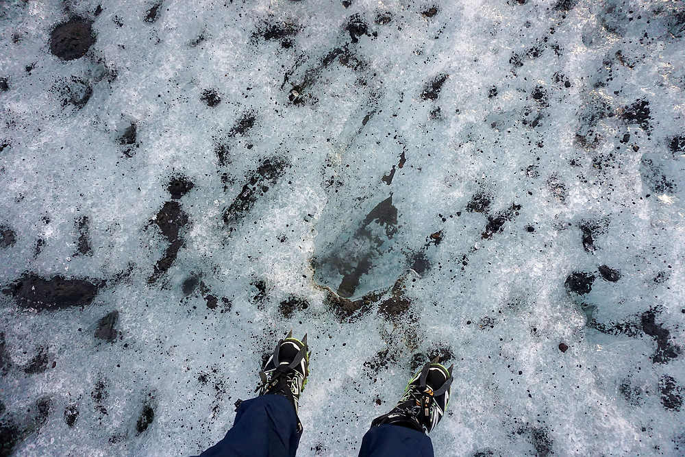 Stepping on glaciers, unique experience.