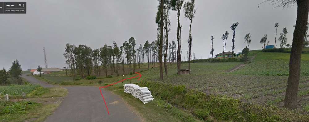 Here is google street view on where we take the turn.