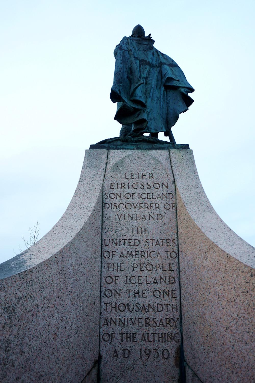 The statue of explorer Leif Eriksson.