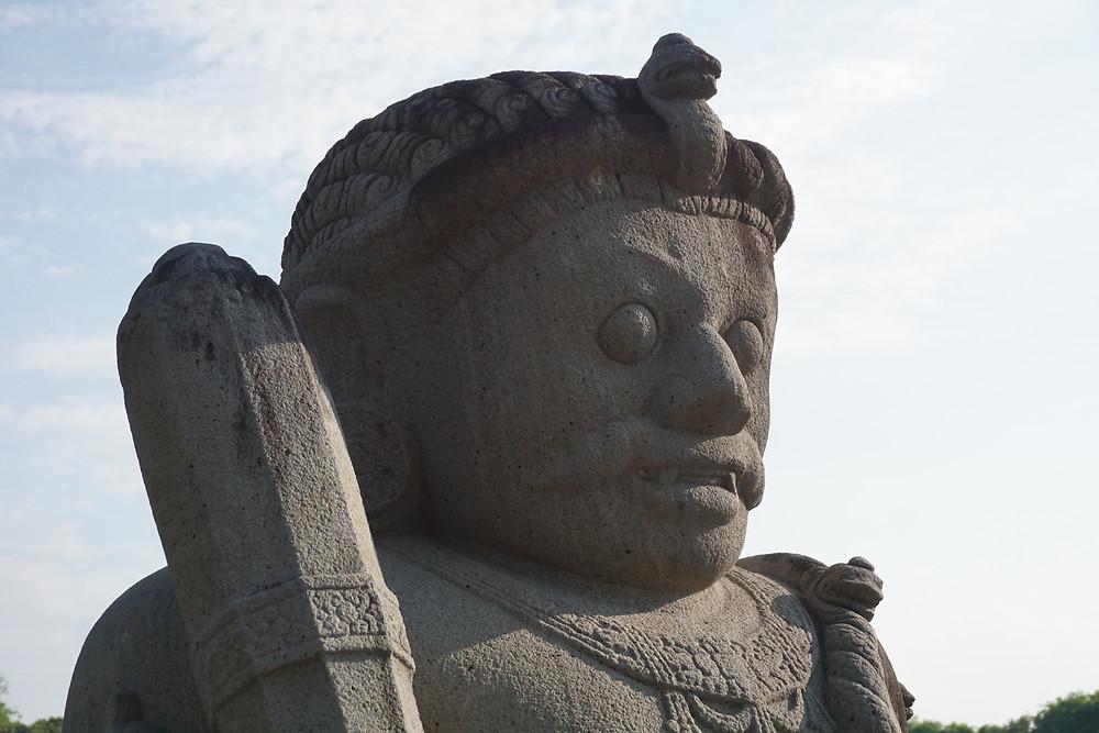 Guard statue guarding Prambanan temple