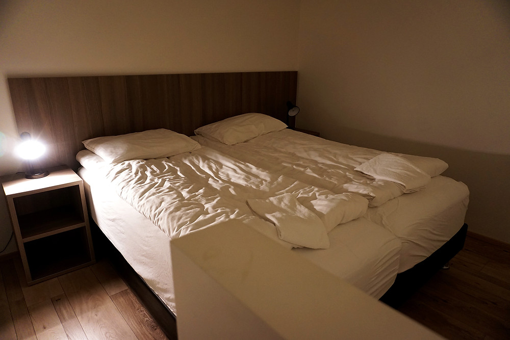 Double bed on the second floor.