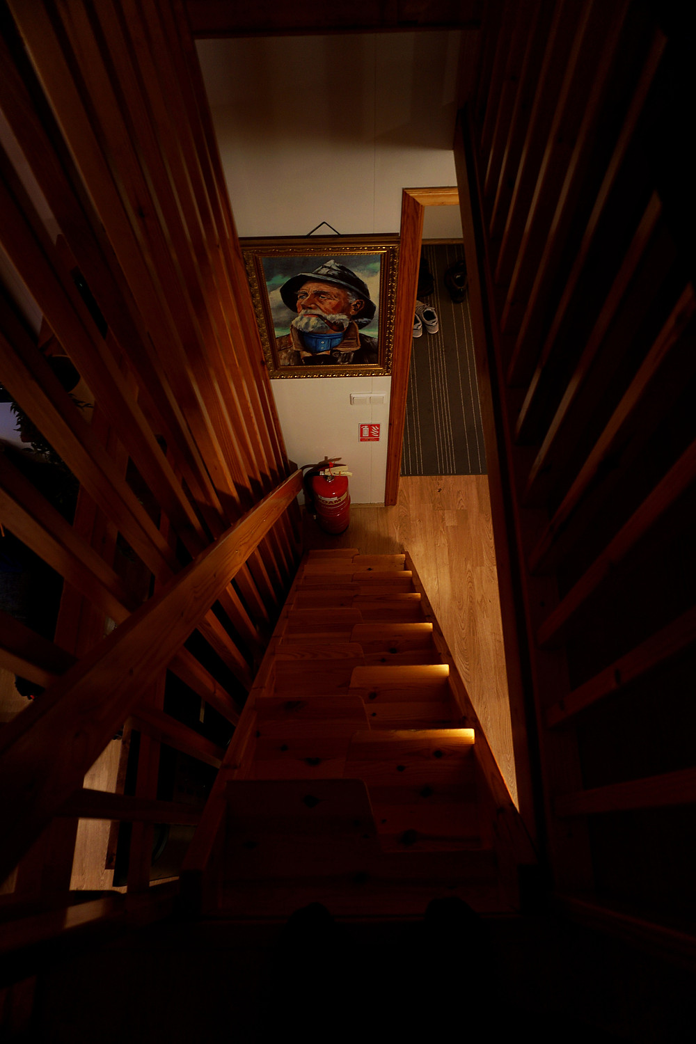 Staircase to bedroom C.