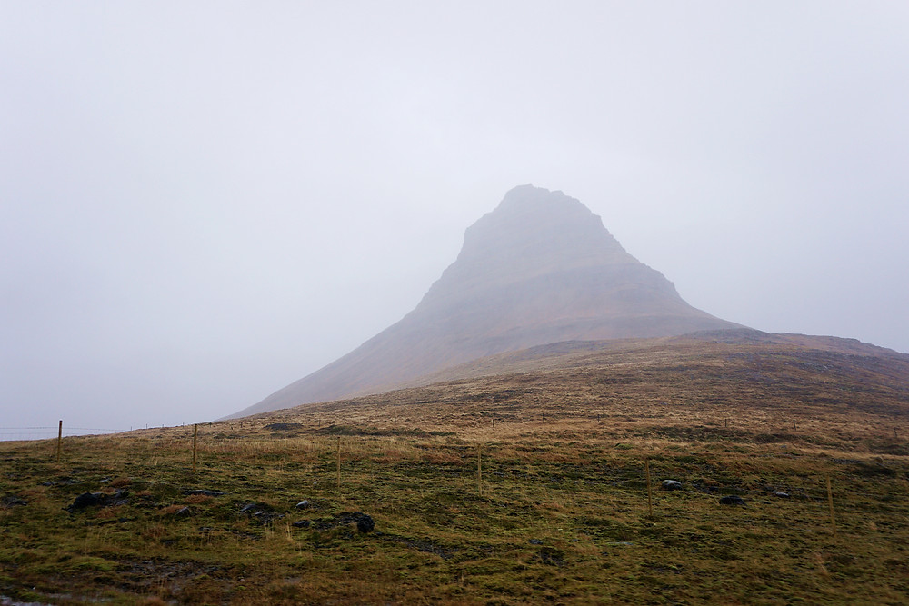 Blur Kirkjufell mountain, will conquer you next time!