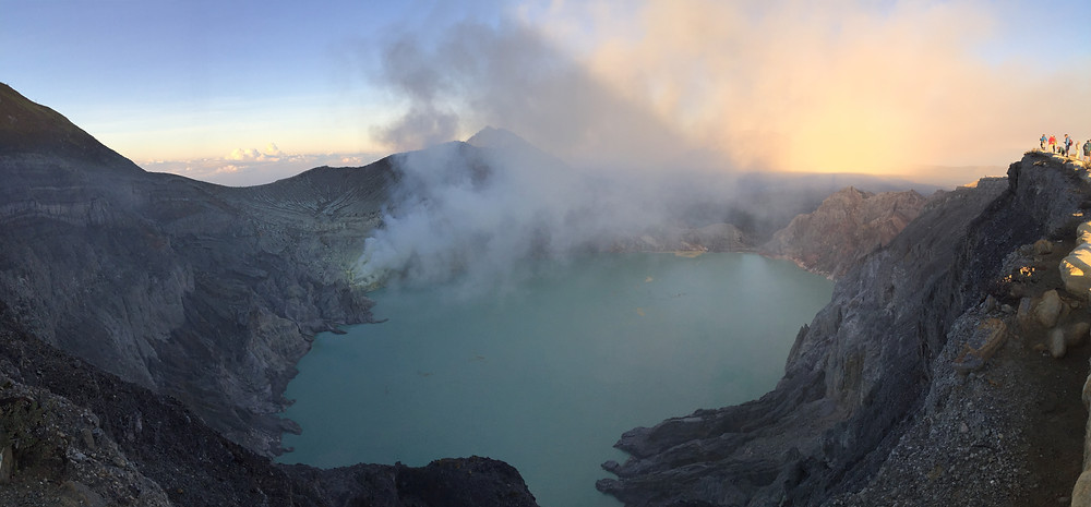 Panorama view towards Kawah Ijen.