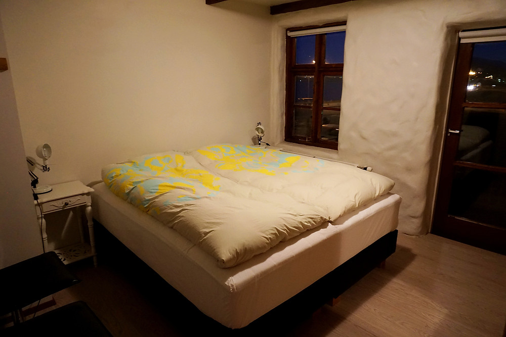 Queen size bed room for sweet couple.