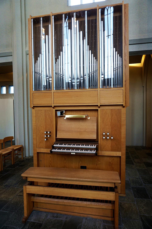 A piano in the church.