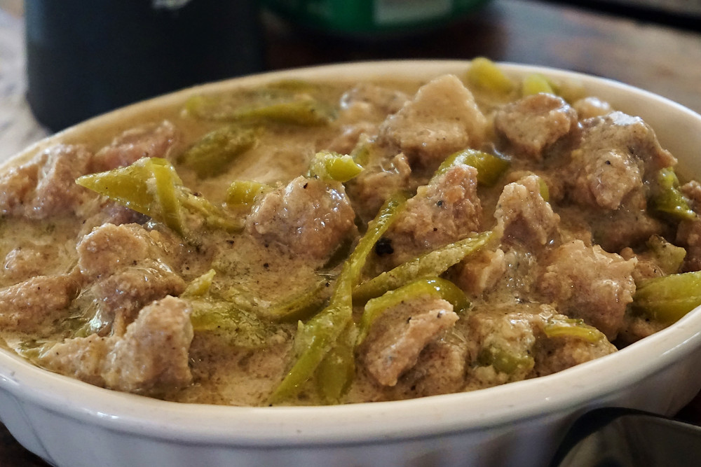 Bicol express with pork.