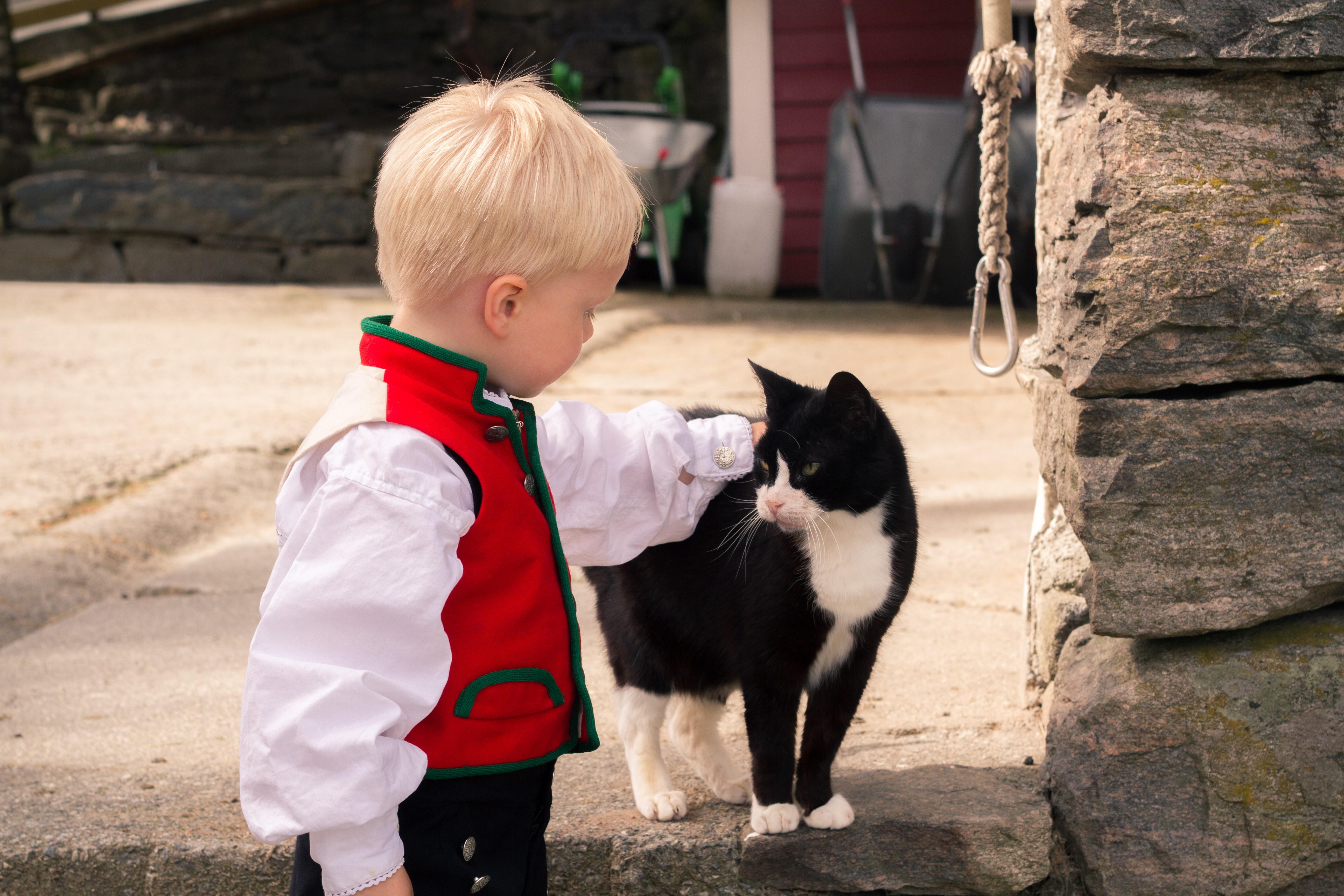 Barn på navnefest i Bergen