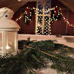Øvre Eide Gård Jul låve old