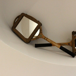 Tennis Racket with Mirrors