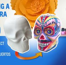 Painting a Calavera (Sugar Skull)