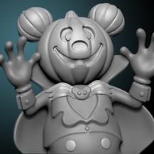 Pumpkin Mickey Sculpt