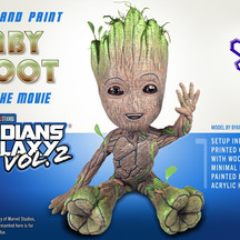 Printing and Painting Baby Groot