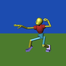 Basic Guy Rig, Stepped Animation Exercise