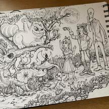 Alice in Wonderland, illustration