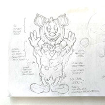 Concept Sketch For A Pumpkin Mickey Character