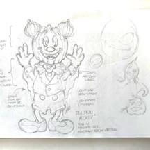 Pumpkin Mickey Concept Sketch