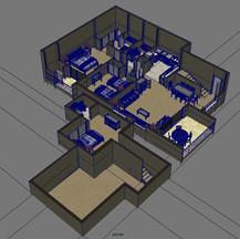 Cut-away interior model