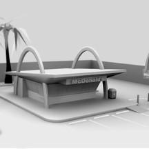 Vintage McDonald's Architecture Model