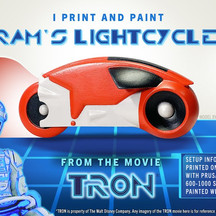 Printing and Painting a Tron Lightcycle