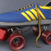 Model Turntable | Model and Render of an Old School Roller Skate