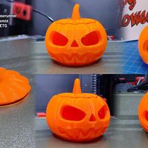 3D Printed Jack 'O Lantern