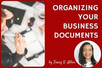 Organizing Your Business Documents